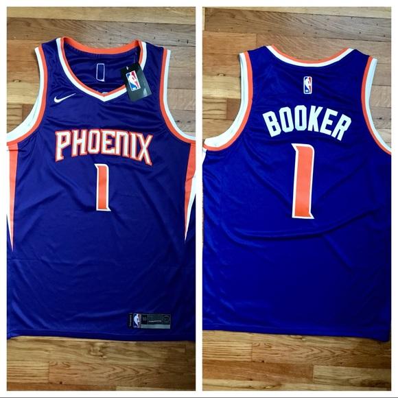newest 8237c 9c195 NWT Devin Booker Phoenix Suns NBA Jersey Large NWT